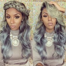 ***Try Hair Trigger Growth Elixir*** ========================= {Grow Lust Worthy Hair FASTER Naturally with Hair Trigger} ========================= Go To: www.HairTriggerr.com ========================= Gorgeous Sage and Grey Ombre Curls!!!