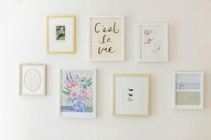 Feminine gallery wall for little girls room