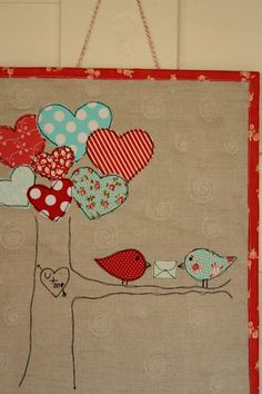 Bird and hearts....I am in love