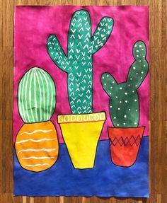 〰️ k a k t u s 〰️ . . . Die Ferien starten gemütlich mit der Lieblingsserie, Kaffee und Vorbereitungen für den Kunstunterricht Und da Kakteen ja zurzeit überall zu finden sind habe ich sie mir für das nächste Kunstbild ausgesucht Natürlich werden wir auch wieder Frühblüher und Tulpen malen aber ich wollte mal was anderes ✔️ Das Bild werde ich mit meinen Dritt- und Viertklässlern malen Die Vorgabe lautet, dass die Schüler den Tisch auf dem die Kakteen stehen oder den Hintergrund jewei...