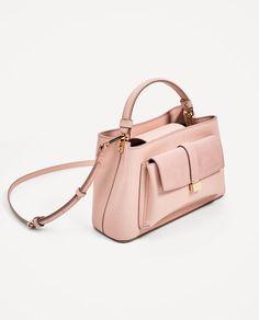 Image 1 de MINI SAC DE VILLE À RABAT EN CROÛTE DE CUIR de Zara Zara, Leather Wallet Pattern, Sacs Design, Art Bag, Designer Shoulder Bags, Cute Bags, Luxury Bags, Laptop Bag, Bag Sale