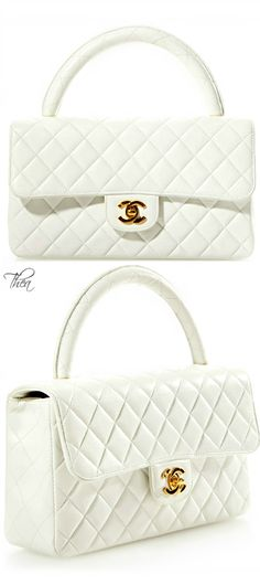 Chanel ● White Leather Handle Bag