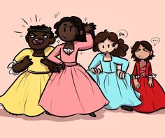 Lol. Jefferson as Angelica, Madison as Peggy, Laurens as Eliza, and Hamilton as Maria<<< HAMILTON LOOKS SO DONE