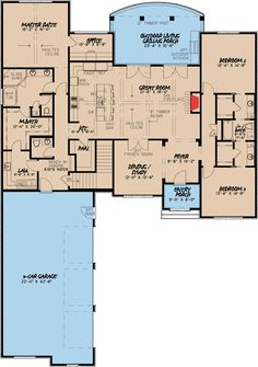 French Country House Plan with 2 Kitchens - 70502MK   1st Floor Master Suite, Butler Walk-in Pantry, CAD Available, Den-Office-Library-Study, European, French Country, Jack & Jill Bath, Media-Game-Home Theater, PDF, Split Bedrooms   Architectural Designs