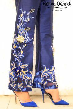 Buy Pakistani clothes online, salwar kameez, Indian dresses, kurtis, trousers and leggings by Henna Mehndi. Pakistani Clothes Online, Pakistani Outfits, Pakistani Clothing, Women's Fashion Dresses, Fashion Pants, Salwar Pants, Moda Floral, Indian Dresses, Designer Wear