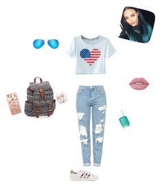 """""""So beautiful"""" by mihaialexiamaria on Polyvore featuring Casetify, Chicnova Fashion, Topshop, adidas Originals, Aéropostale, Ray-Ban, claire's and Lime Crime"""
