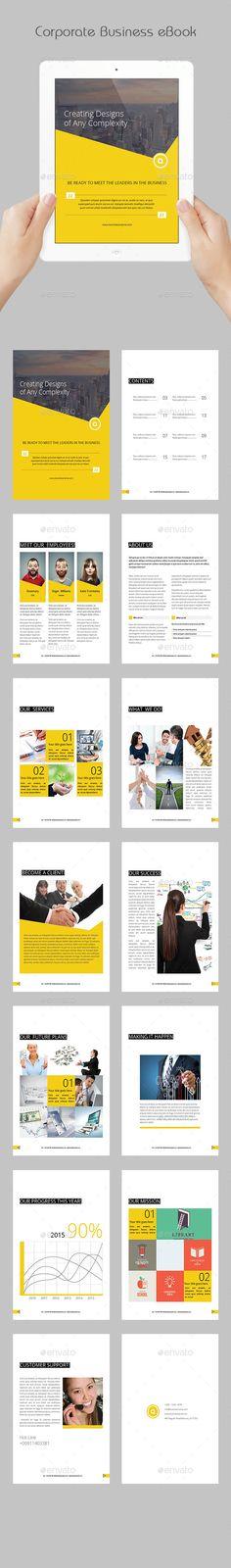 Corporate Business eBook Template #design #epublishing Download: http://graphicriver.net/item/corporate-business-ebook/11972523?ref=ksioks