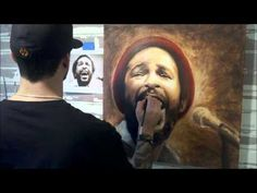 Oil Painting of Marvin Gaye