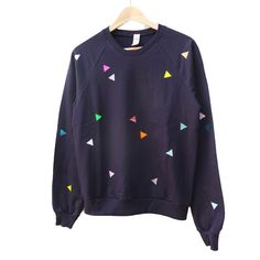 Navy Triangle Sweater - Pom Berlin