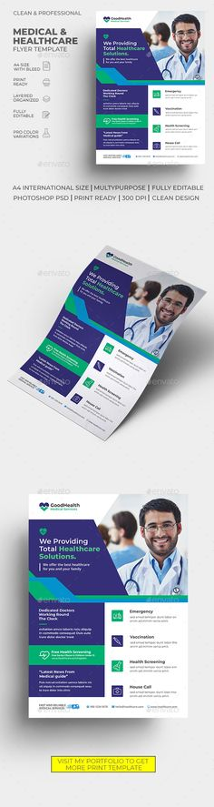Medical Flyer. Customizable business flyer template. #care #clinic #ClinicFlyer #dental #dentist #doctor #emergency #equipment #fitness #flyer #health #HealthcareFlyer #hospital #HospitalFlyer #leaflet #medical #MedicalFlyer #medicine #pamphlet #pharmaceutical #pharmacy #PharmacyFlyer #professional #prospectus #rx #screening #service #supplies #surgery #treatment Flyer Free, Insert Image, Business Flyer Templates, Corporate Flyer, Flyer Design, Clinic, Health Care, Medicine, Photoshop