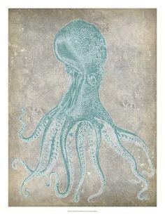 Spa Octopus II Fine-Art Print by Jennifer Goldberger at UrbanLoftArt.com