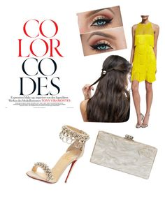 """""""Color Codes; Yellow"""" by vanessa-ohaha on Polyvore featuring Naeem Khan, Christian Louboutin, ASOS and Edie Parker"""
