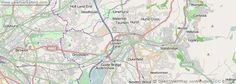 A detailed map of the town of Ashton-under-Lyne in the UK.