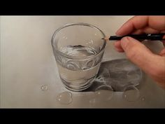 Consider getting a white conte pencil or white charcoal Speed Drawing a Realistic Glass of Water, Time Lapse