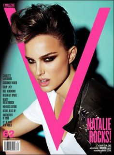 natalie portman v magazine. Cool cover and a sexy girl but I'm not feeling