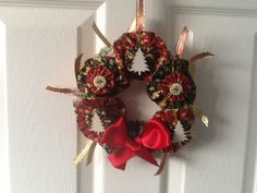Christmas Wreath made with Suffolk Puffs