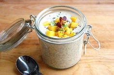 Facebook Twitter Google+ Pinterest In need of an easy breakfast on a busy morning? Prepare Chia Mango Yogurt at night for a grab and go breakfast the following day!  Plain Greek yogurt serves as the base of this dish and has 20 grams of...