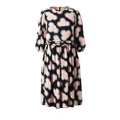 Orla Kiely | USA | clothing | Sale - L'Orla | Cou Cou Viscose Gathered Day Dress (16RWVIS723) | petal pink