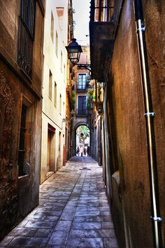 Barri Gotic, Barcelona, Spain. I love everything about this area of the city.