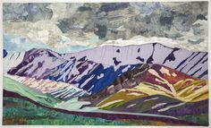 "Spring Storm at Denali, 27 x 40"",  art quilt by Vicki Conley"