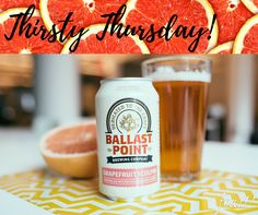 We're enjoying this warm winter weather at Feast! Satisfy your taste for summer craving with Ballast Point Brewing Company's Grapefruit Sculpin. #thirstythursday
