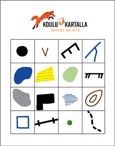 karttamerkkibingo_täytetty Motor Activities, Physical Education, Physics, Psychology, Science, Teaching, School, Psicologia, Physical Education Lessons
