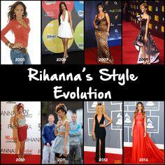 Rihanna' Style Evolution since her debut.
