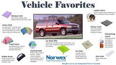 Norwex is great for all your cleaning needs! Detail your car with Norwex and water!