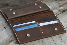 Leather Purse leather wallet handmade Leather Wallet men