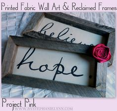 DIY Reclaimed Wooden Frames