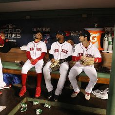 Mood in Boston right now . Red Sox Baseball, Baseball Uniforms, Baseball Socks, Boston Sports, Boston Red Sox, Andrew Benintendi, Red Sox Nation, Boston Strong, Go Red
