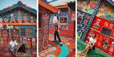 A Taiwan un anziano signore di 96 anni salva il suo villaggio dalla demolizione grazie ai suoi coloratissimi dipinti sui muri della città