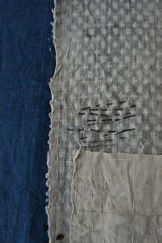 Vintage Boro Textile from the collection of Arrow and Arrow.