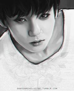 amazing Jungkook fanart Credit to the artist