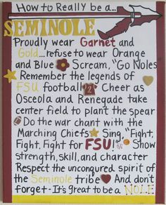 A True Florida State Seminole Canvas by jzoet on Etsy, $40.00
