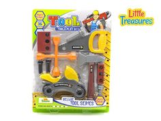 Quality Deluxe Tool series from Little Treasures - Complete with motorcycle, handsaw, axe, Wrench, and lug wrench, screws, and Wooden piece -play set for children over 36 months. *** Click image to review more details.