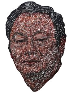 Amazing intricate cut-paper portraits created by Dutch artist Kuin Heuff.