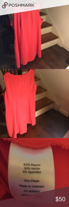 Talbots Salmon A-line Dress 20 WP. In brand new condition. Never worn. 38 inches from shoulder to hem. There is a zipper in the back! The dress is between orange and pink! It is a super cute color! Really cute to dress up! Talbots Dresses