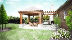 Outdoor patio roofing options outside covered porches features back porch designs simple kitchen inspirational Back Porch Designs, Patio Deck Designs, Pergola Design, Pergola Ideas, Patio Ideas, Porch Ideas, Pergola Kits, Backyard Ideas, Covered Patio Design
