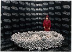 "Yayoi Kusama, ""Aggregation: One Thousand Boats Show"" (1963)"