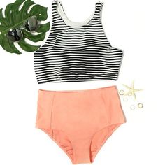Discover high waisted bikinis at Cupshe. Whether you prefer a high waisted bikini bottoms suit or a high waisted bikini set, we have the vintage piece for you. 2 Piece Swimsuits, Cute Swimsuits, Modest Swimsuits, Vintage Style Swimsuit, Tankini, Cute Bathing Suits, Summer Tank Tops, Bikini Workout, Sporty Style