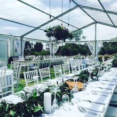 Our Clear Marquee and stunning table settings