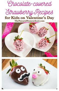 This is the impromptu activity my lovely daughter and I did tonight. We have some Chocolate-covered Strawberry Recipes that are fun and sweet for kids of all ages.