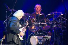 Chris Squire and Alan White of Yes ©Melanie Beus Photography/melephoto 2012 — at Warner Theatre. Yes Music, Chris Squire, Alan White, Roger Dean, Progressive Rock, Rock Bands, Album Covers, Theatre, Concert