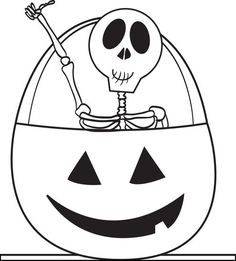 free printable skeleton coloring page for kids - Halloween Skeleton Coloring Pages