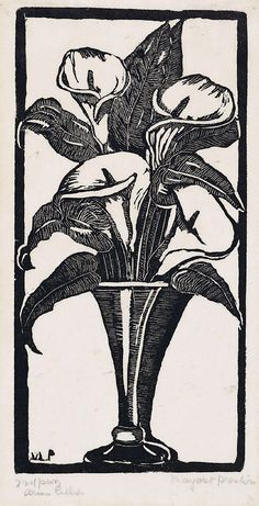 Arum lilies, (circa 1925) by Margaret Preston :: The Collection :: Art Gallery NSW