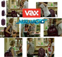 Trabalho realizado junto a assessoria de  imprensa Horus. Bolsa da marca Vax Barcelona em episódio da Malhação, em 2012.