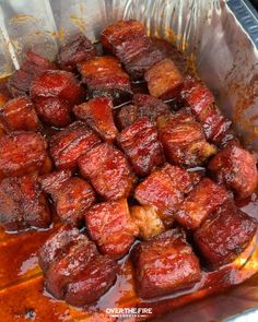 Pork Belly Recipes, Rib Recipes, Cooking Recipes, Burnt Ends, Smoked Meat Recipes, Summer Grilling Recipes, Fire Cooking, Campfire Food, 4 Hours