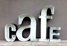 Vintage Cafe Sign Letters