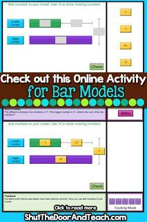 Learn how this bar models website will help your graders learn strategies for part part whole word problems and more! Perfect if you teach Singapore Math. Upper Elementary Resources, Elementary Math, Teacher Blogs, Teacher Resources, Math Addition Games, Math In Focus, Bar Model, Play Therapy Techniques, Singapore Math